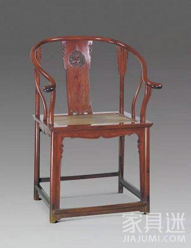 黄花梨木透雕靠背圈椅